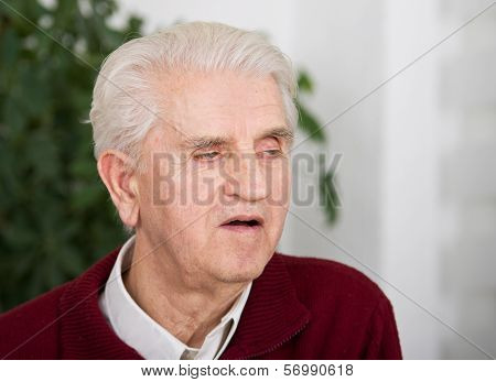 Senior Man With Open Mouth