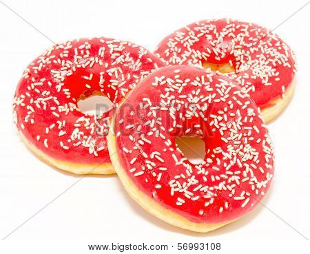 Donuts Isolated On A White