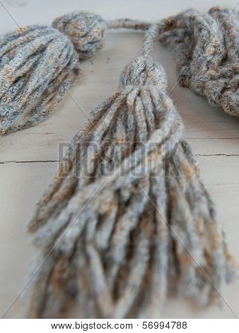yarn hat tassles