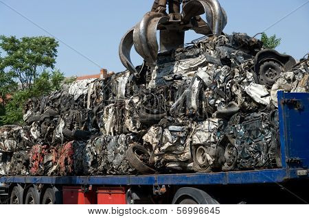 Crushed Cars Transportation