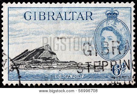 Gibraltar 1953 Stamp
