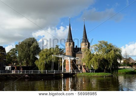 Oostpoort In Historical Delft