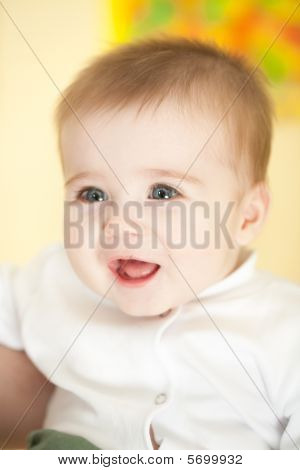 Portrait Of Adorable Blue-eyes Baby