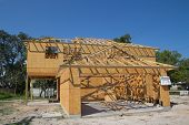 JACKSONVILLE, FL-SEP 15: New home construction on September 15, 2013 in Jacksonville, Florida. New h