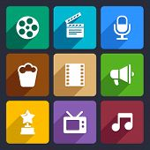 Movie Flat Icons Set 37
