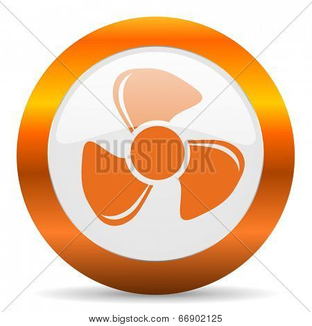 fan computer icon on white background