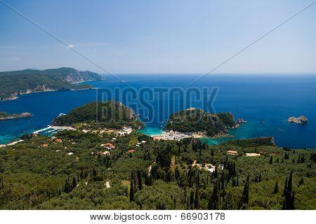 The Paleokastritsa bay, Corfu, Greece
