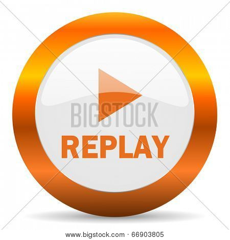 replay computer icon on white background