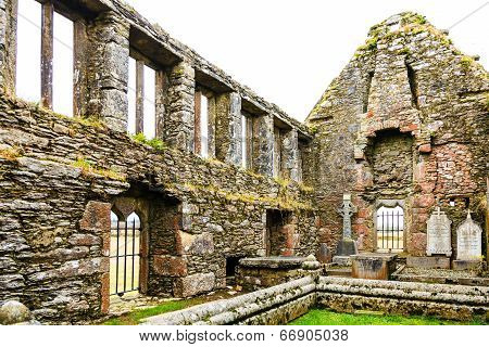 Kilcrea, Ireland - November 28: Kilcrea Friary On November 28, 2012 In Co.cork, Ireland