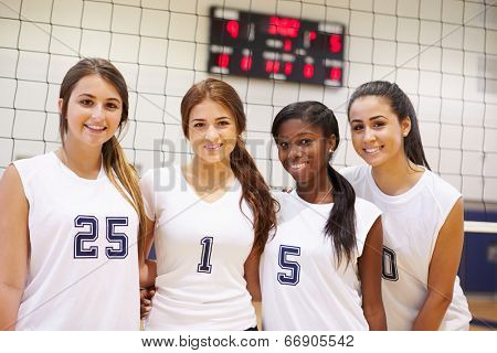 Members Of Female High School Sports Team
