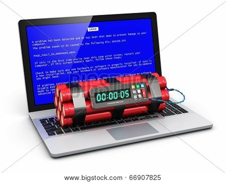 Computer error concept