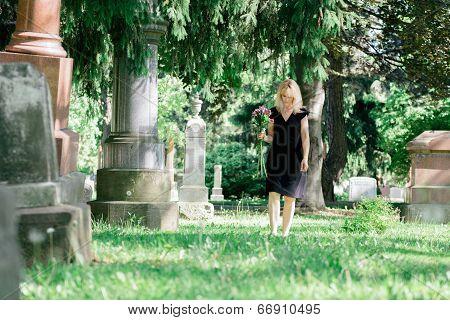 Walking In Cemetery