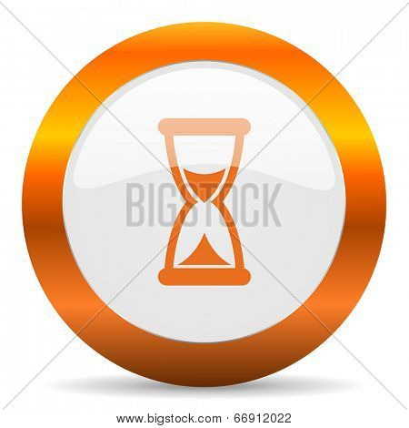 time computer icon on white background