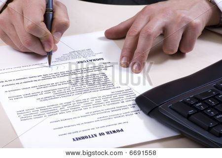 A Signing Of Document
