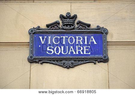 Victoria Square sign, Birmingham.