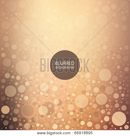 Abstract Dotted Background with Colorful Blurred Image