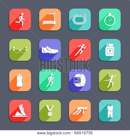 Running Icons Flat