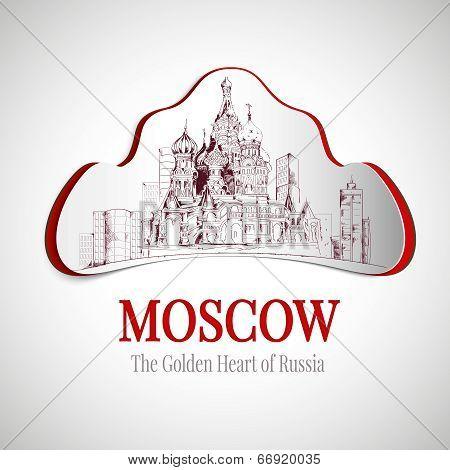 Moscow city emblem