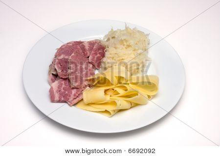 Corned Beef-sauerkraut-cheese