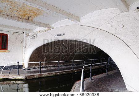 Broad street canal tunnel, Birmingham.