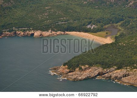 Sand Beach Aerial - Acadia National Park