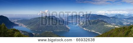 Balcony Of Italy - Panorama Of Lake Lugano