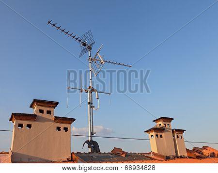 Tv Antenna And Chimney