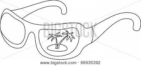 Sunglasses, contours