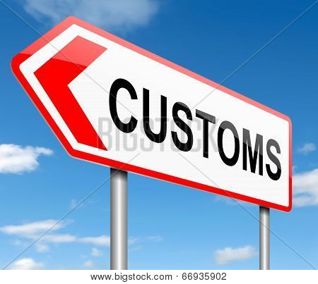 Customs Concept.