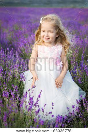 Portrait Smiling Toddler Girl