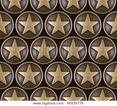 Bronze Star Seamless Pattern