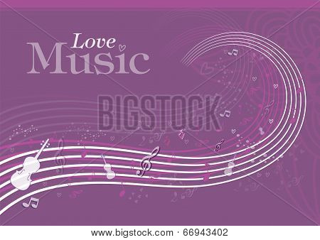 Love Music Background