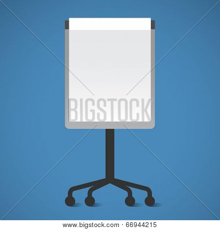 Vector Presentation Board. Flip-chart. Flat design vector illustration