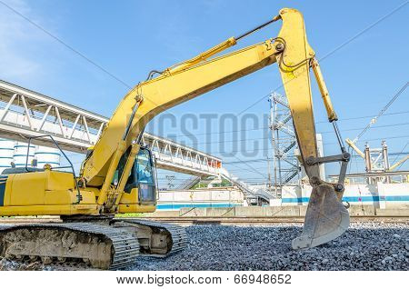 Tractor Or Front Loader With Backhoe