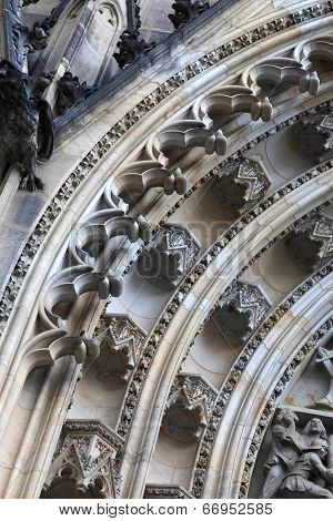 Fragment Of Tympanum St. Vitus Cathedral
