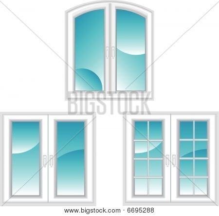 Plastic polymer windows