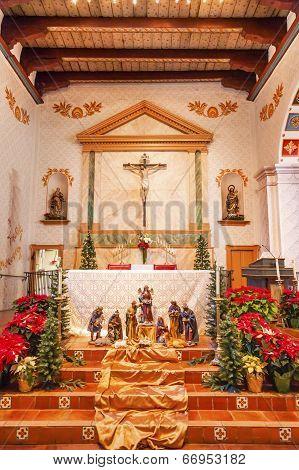 Mission San Luis Obispo De Tolosa California Basilica Cross Altar