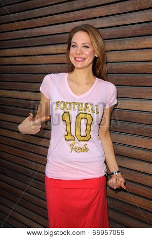 LOS ANGELES - JUN 18:  Maitland Ward at the Private LA Football League Summer Kickoff Suite featuring LA Football League T-Shirts at the Private Location on June 18, 2014 in Los Angeles, CA