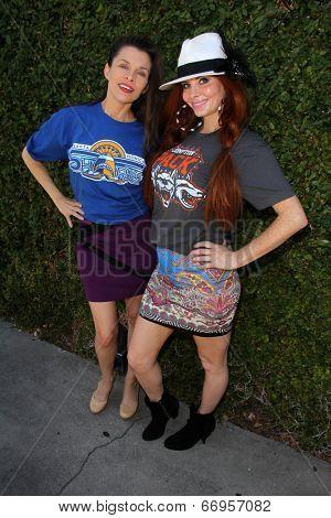 LOS ANGELES - JUN 18:  Alicia Arden, Phoebe Price at the Private LA Football League Summer Suite featuring LA Football League T-Shirts at the Private Location on June 18, 2014 in Los Angeles, CA