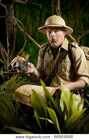 Adventurer Lost In The Jungle