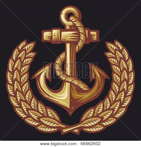 anchor and laurel wreath