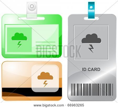 Storm. Raster id cards.