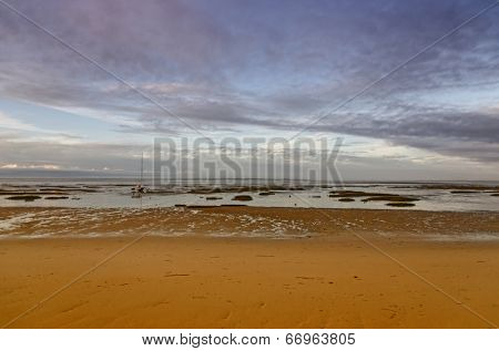 French destination Arcachon Bay and low tide