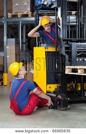 Accident On A Forklift