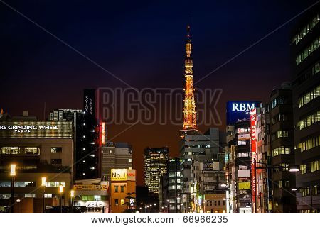 Tokyo Tower from Hamamatsucho Station