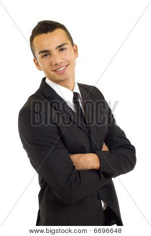 Portrait Of A Friendly Handsome Businessman