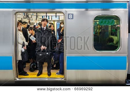 Japanese Train Commuters