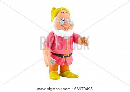 Doc Is The Leader Of The Seven Dwarfs Hold A Dianon  And Cup Of Water.