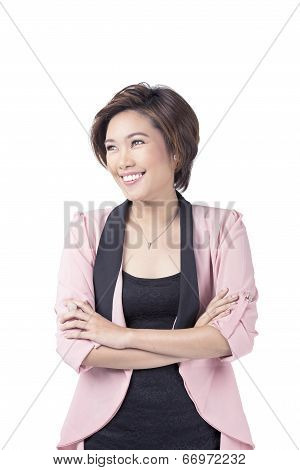 Smiling Young Professional Asian Woman