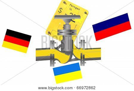 Gas Pipeline Russia, Ukraine Germany